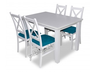 Zestaw Krzyżak stół+4 krzesła