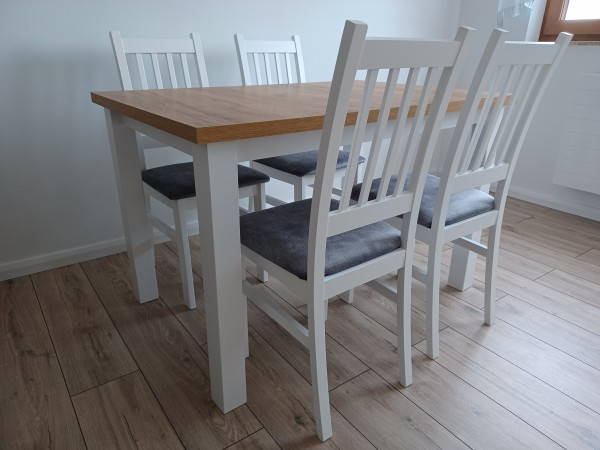 Zestaw Kuchenny Stół 120x80+4 krzesła