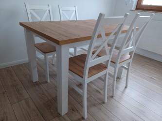 Zestaw Krzyżak stół + 4 krzesła