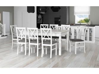 Zestaw stół Modena 2 + 8 Krzeseł Milano 4