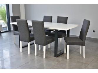 Stół Industrialny Venus + 6 krzeseł Luna
