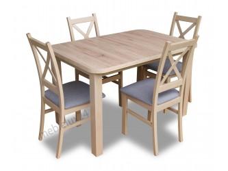 Zestaw Krzyżak stół +4 krzesła