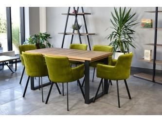 Industrialny Zestaw Stół Venus+Krzesła Viki