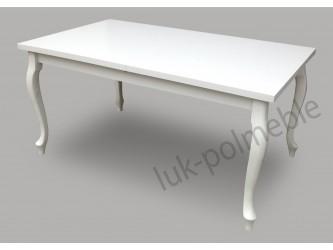 Stół Ludwik biały blat połysk 150/190x80